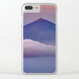 Volcano Teide 3.718 Meters. At Sunset Clear iPhone Case