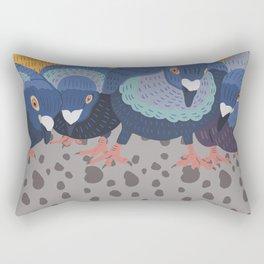 Pigeon Feast Rectangular Pillow