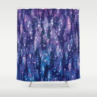 feathers Shower Curtains featuring feathers by Marta Olga Klara