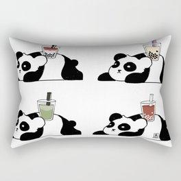 Wall of Boba Pandas Rectangular Pillow