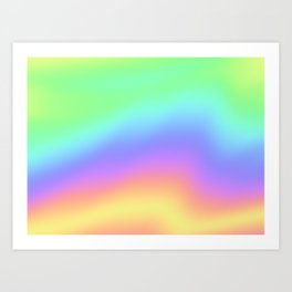 Holographic Foil Colorful Gradient Pattern Art Print