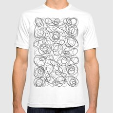 Time is elastic White SMALL Mens Fitted Tee