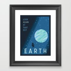 EARTH Space Tourism Travel Poster Framed Art Print