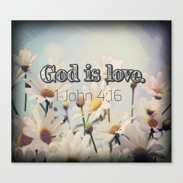 God is Love Canvas Print