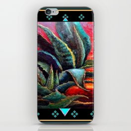 SOUTHWEST DESERT AGAVE BLACK DESIGN iPhone Skin
