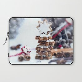 #Christmas #bakery #fresh #cinnamon #Stars Laptop Sleeve