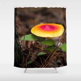 Red And Yellow Mushroom Shower Curtain