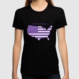 Make America Purple Again United States Map T-shirt