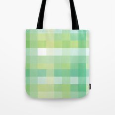Pixelate Mint Tote Bag