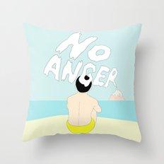 NO ANGER Throw Pillow