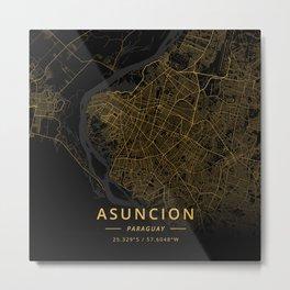 Asuncion, Paraguay - Gold Metal Print