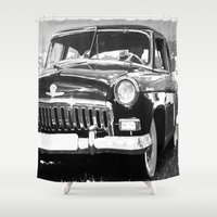 grand theft auto Shower Curtains featuring Black Auto by Regan's World