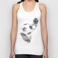 football Tank Tops featuring Football by Dianadia