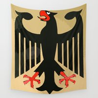 german Wall Tapestries featuring Bundesadler - German Eagle by Premium