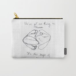"Artwork inspired by the lyrics of The 1975's ""Sex"" Carry-All Pouch"