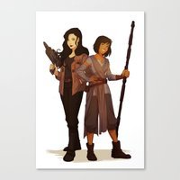 korrasami Canvas Prints featuring Korrasami Crossover by Nymre