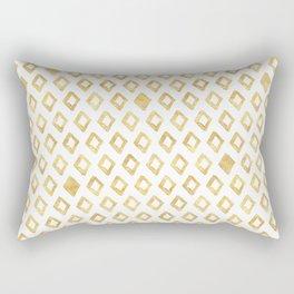 Gold Glitzy Geometric Rectangular Pillow