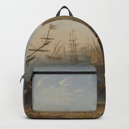 Claude Lorrain - Port with Capitol Backpack