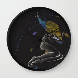 Peacock on Top Wall Clock