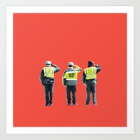 police Art Prints featuring Police  by shaymultimedia