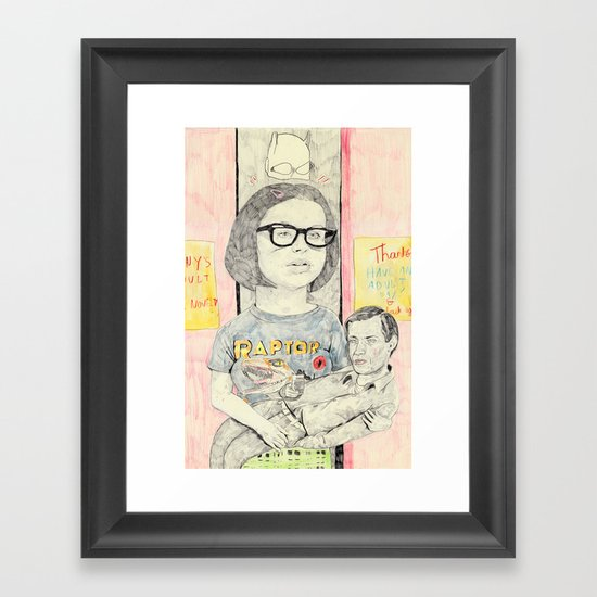 ghost world Framed Art Print