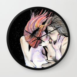 No Gravity When I'm With You Wall Clock
