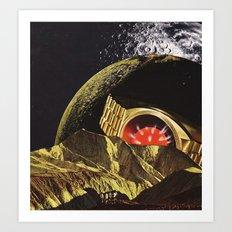 the bent and broken moon... Art Print