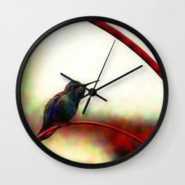 Backyard Hummer Wall Clock