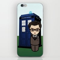 dr who iPhone & iPod Skins featuring Kokeshi Dr. Who by Pendientera