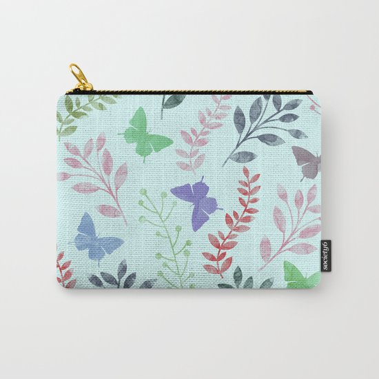 Watercolor flowers & butterflies II Carry-All Pouch