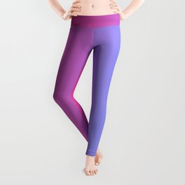 Hot Pink And Blue Gradient Background Leggings