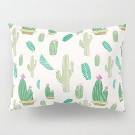 Ivory pastel blush green pink cactus floral Pillow Sham