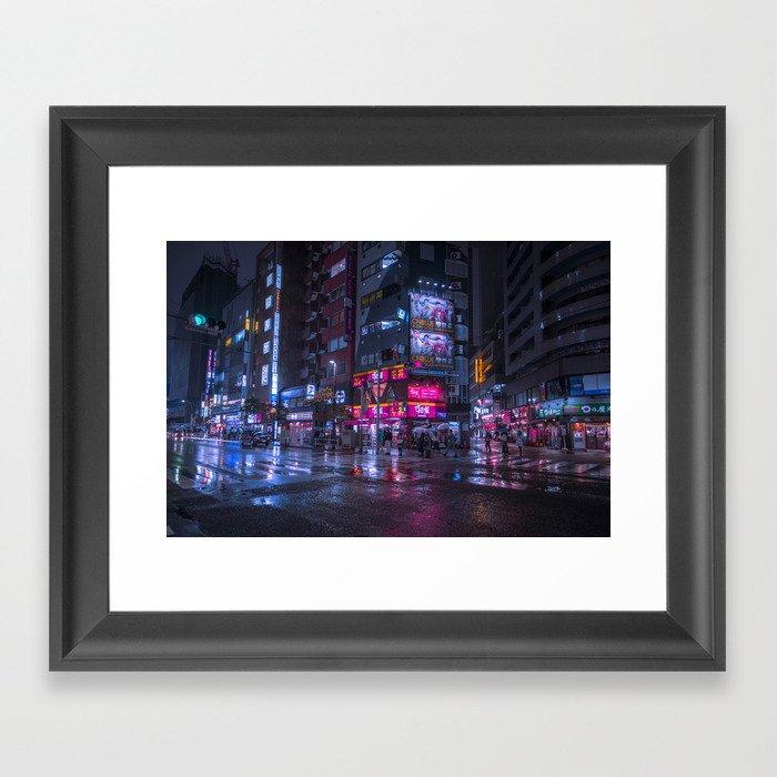 Shinjuku at night Gerahmter Kunstdruck