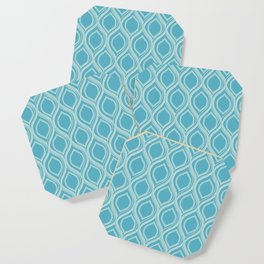 Abstract Turquoise Coaster