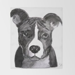 Pit Bull Dogs Lovers Throw Blanket