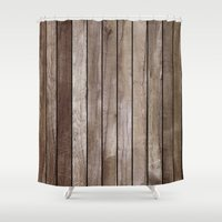 wooden Shower Curtains featuring Wooden Texture by Patterns and Textures