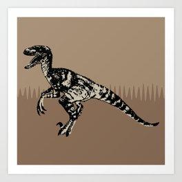 ChocoPaleo: Velociraptor Art Print