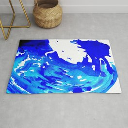 Save The Water Watercolour Rug
