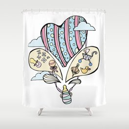 Baby's Lullaby Shower Curtain