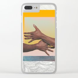 grasping squares Clear iPhone Case