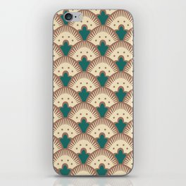 Fan Pattern Brown and Green 991 iPhone Skin