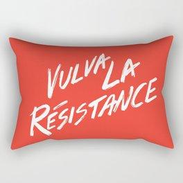 Vulva La Resistance - Feminist Art Print Rectangular Pillow