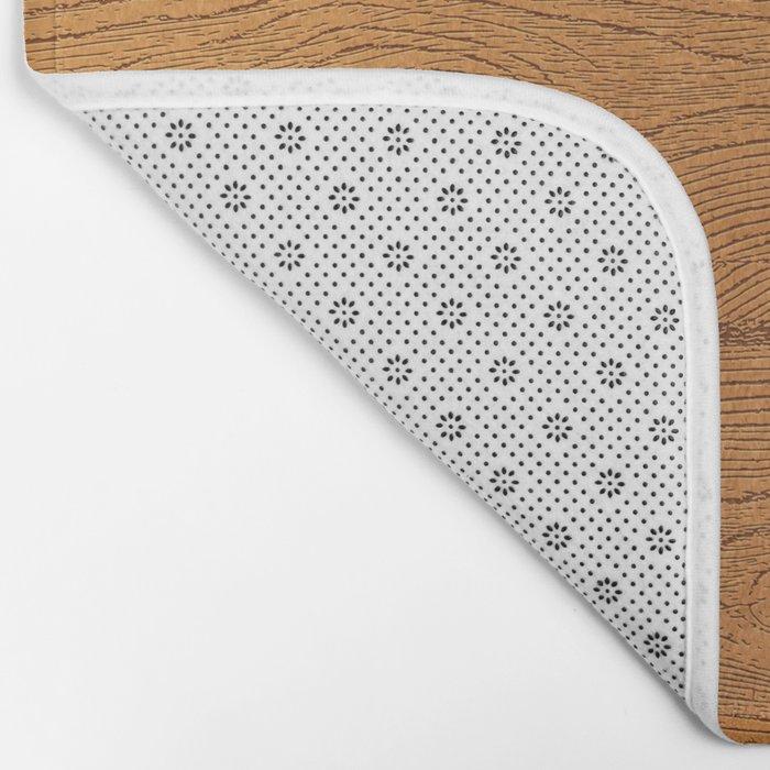 The Cabin Vintage Wood Grain Design Bath Mat