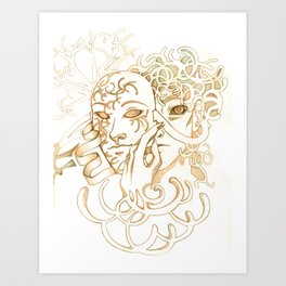 Angel Mask Art Print