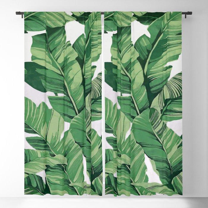 7a5bf8da7f08 Tropical banana leaves V Blackout Curtain by catyarte
