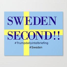 Sweden second!! Canvas Print