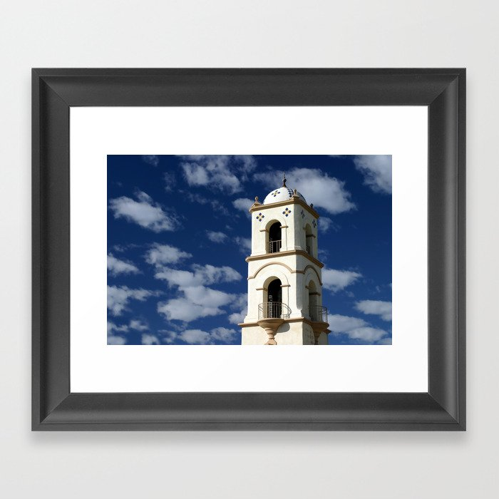 Ojai Post Office Tower Framed Art Print
