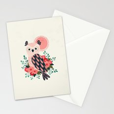 Owl and Blossoms Stationery Cards