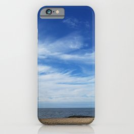 Sea and sky morning in Madison, Connecticut iPhone Case