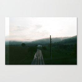 Foggy Sunset on Film Canvas Print